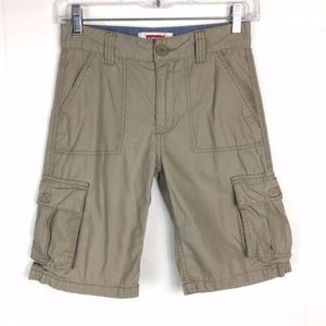 Levis Boys Khaki Cargo Shorts, 100% Cotton/S:10 R